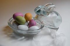Coelhinho da Páscoa de vidro Imagem de Stock Royalty Free