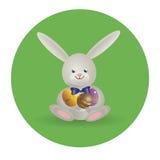 Coelhinho da Páscoa 3 do logotipo Imagens de Stock