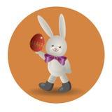 Coelhinho da Páscoa 2 do logotipo Foto de Stock Royalty Free
