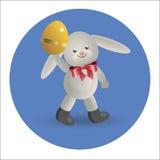 Coelhinho da Páscoa 4 do logotipo Imagem de Stock Royalty Free