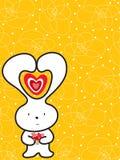 Coelho bonito com flores ilustração royalty free