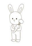coelho bonito dos desenhos animados Fotografia de Stock Royalty Free