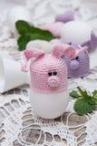 Coelho bonito para ovos da páscoa Imagens de Stock Royalty Free