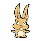 coelho cômico dos desenhos animados Imagem de Stock