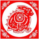 Coelho chinês do ano novo Fotografia de Stock Royalty Free