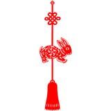 Coelho chinês do ano novo Imagens de Stock Royalty Free