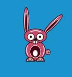 Coelho cor-de-rosa dos desenhos animados Imagem de Stock Royalty Free
