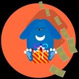 Coelho de assento do dinheiro Foto de Stock