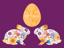Coelho de coelho oriental colorido das flores do vetor Fotografia de Stock Royalty Free