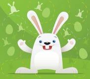 Coelho de Easter com fundo verde Foto de Stock Royalty Free