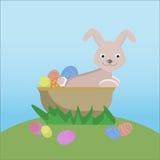 Coelho de Easter com ovos Imagens de Stock Royalty Free