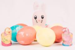 Coelho de Easter com ovos de Easter Foto de Stock