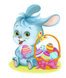 Coelho de Easter e ovo de Easter Imagens de Stock
