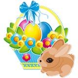 Coelho de Easter e ovos de Easter ilustração stock