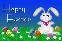 Coelho de Easter e ovos de Easter Fotografia de Stock