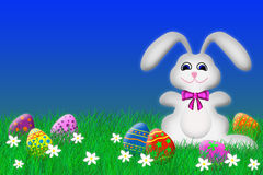 Coelho de Easter e ovos de Easter Imagem de Stock
