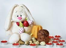Coelho de Easter e ovos de Easter Fotos de Stock Royalty Free