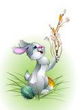 Coelho de Easter em um fundo branco 1 ilustração royalty free