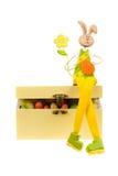 Coelho de Easter em uma caixa Fotografia de Stock Royalty Free