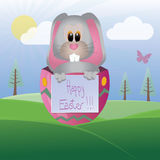 Coelho de Easter feliz Foto de Stock Royalty Free