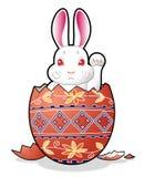 Coelho de Easter no ovo fotos de stock
