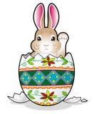 Coelho de Easter no ovo fotografia de stock