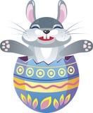 Coelho de Easter no ovo Fotografia de Stock Royalty Free