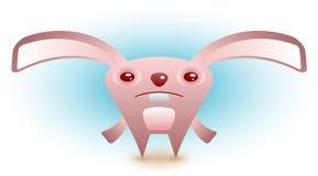 Coelho de Easter triste que procura seus ovos Imagem de Stock