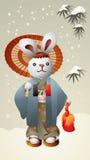 Coelho de Japão Ilustração do Vetor