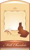 Coelho do chocolate. Fundo para envolver Imagem de Stock