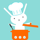 Coelho do cozinheiro chefe Imagem de Stock Royalty Free