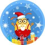 Coelho do Natal ilustração stock