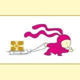 Coelho do Natal dos desenhos animados Imagem de Stock