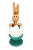 Coelho do ovo da páscoa em ovo quebrado Imagens de Stock Royalty Free