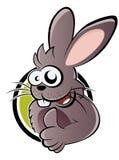 Coelho dos desenhos animados com polegar acima Fotos de Stock Royalty Free