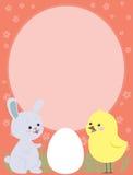 Coelho e galinha de Easter Imagem de Stock