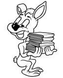Coelho e livros Fotos de Stock Royalty Free