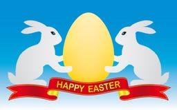 Coelho e ovo de Easter Fotografia de Stock