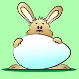 Coelho e ovo de easter ilustração stock