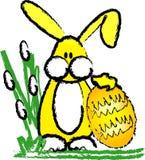 Coelho e ovo de Easter Ilustração do Vetor