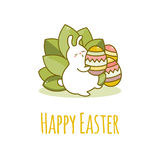 Coelho e ovo de Easter Vetor Fotografia de Stock