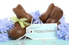 Coelho e ovos da páscoa do chocolate da Páscoa Foto de Stock Royalty Free