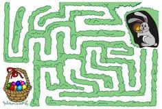 Coelho e ovos da páscoa do labirinto Fotografia de Stock