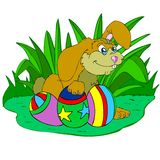 coelho e ovos orientais Imagens de Stock Royalty Free