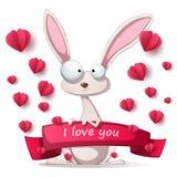 Coelho louco - ilustração de Valentine Day ilustração do vetor