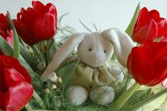 Coelho nas flores Imagem de Stock Royalty Free