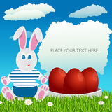 Coelho oriental Easter feliz Ovos da páscoa Uskrs Imagens de Stock Royalty Free