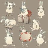 Coelhos ilustração stock