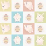 Coelhos de Easter Imagem de Stock
