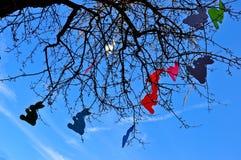 Coelhos de Easter na árvore Fotografia de Stock